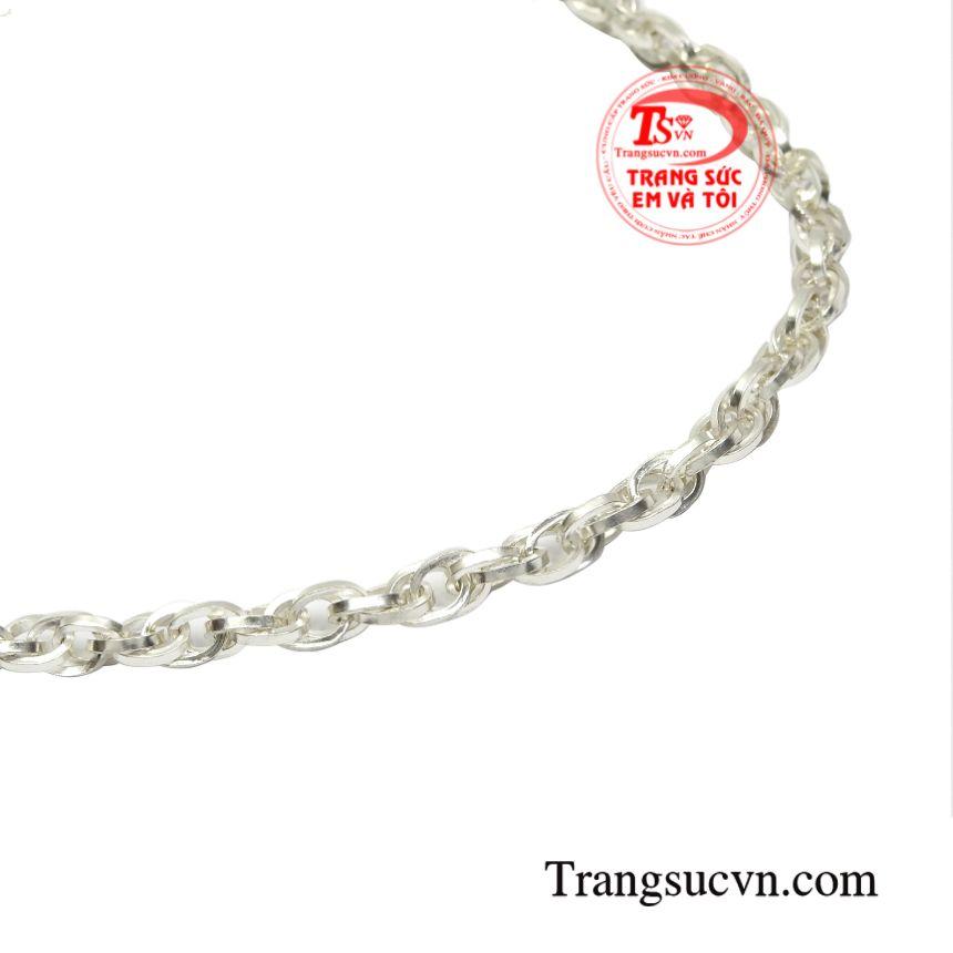 Dây chuyền bạc phong cách độc đáo