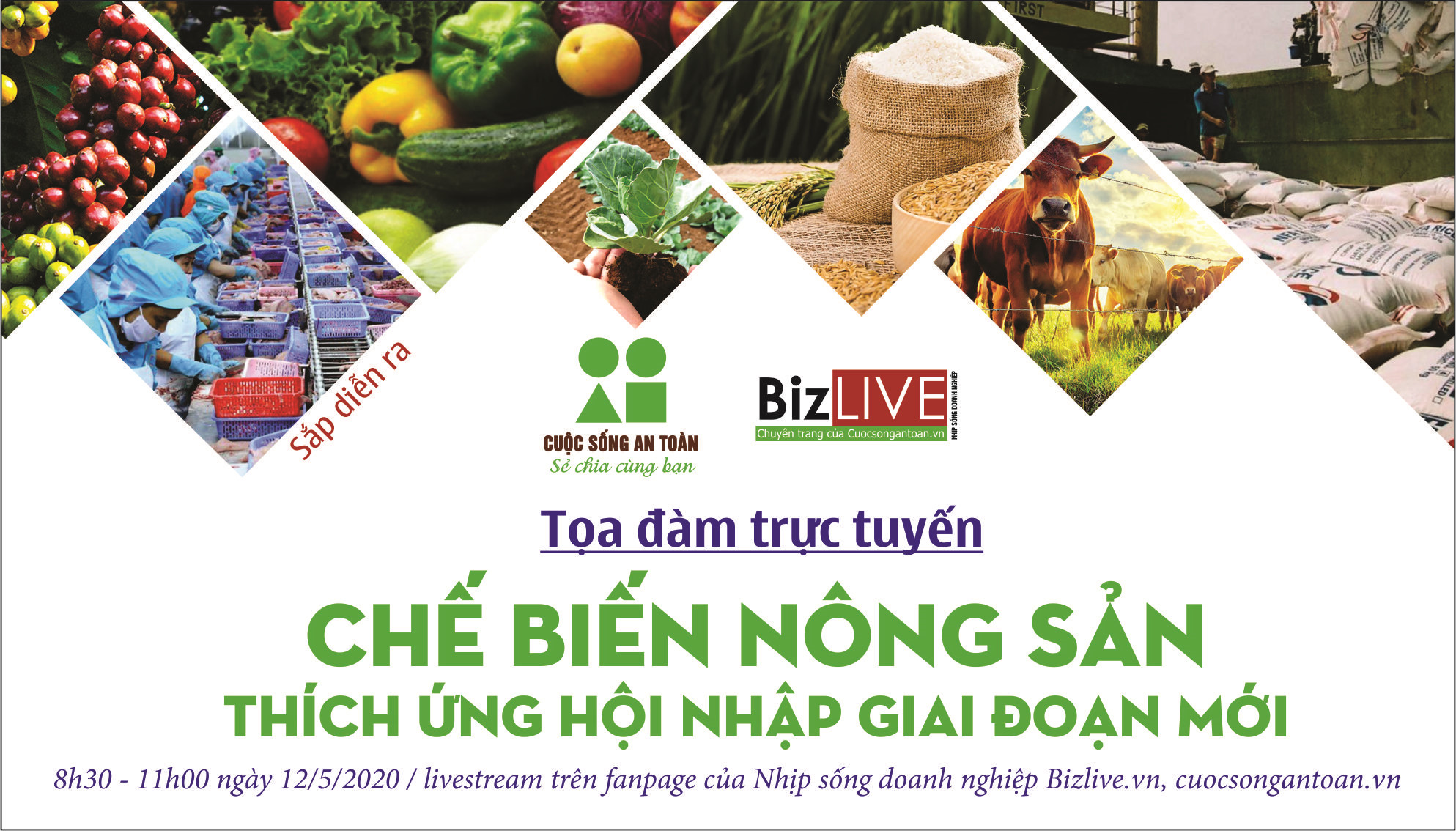 """Sắp diễn ra Tọa đàm trực tuyến """"Chế biến nông sản thích ứng hội nhập giai đoạn mới"""""""